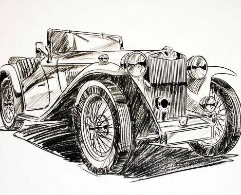 Georg Gedl car illustrations