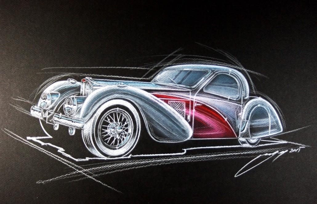 Ged design Georg Gedl Avtomobilske ilustracije