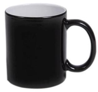 Magična črna keramična skodelica