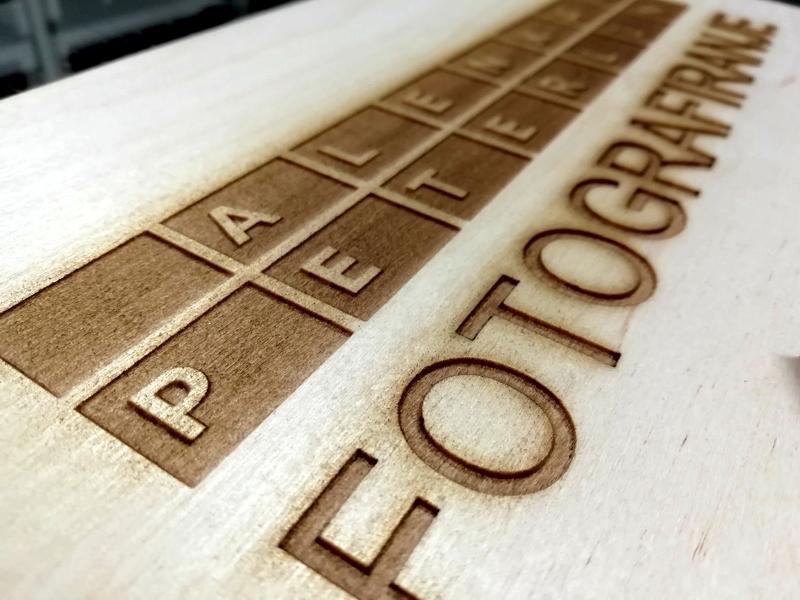 laserski razrez lesa
